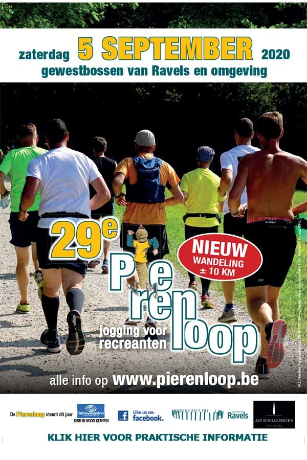 👟 🚶🏻‍♂️ PIERENLOOP 2020 OP 5 SEPTEMBER.