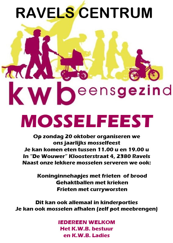 mosselfeest ravelscentrum